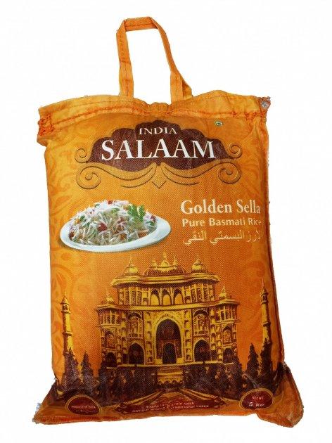Рис Басмати Salaam India золотой пропаренный 5 кг - изображение 1