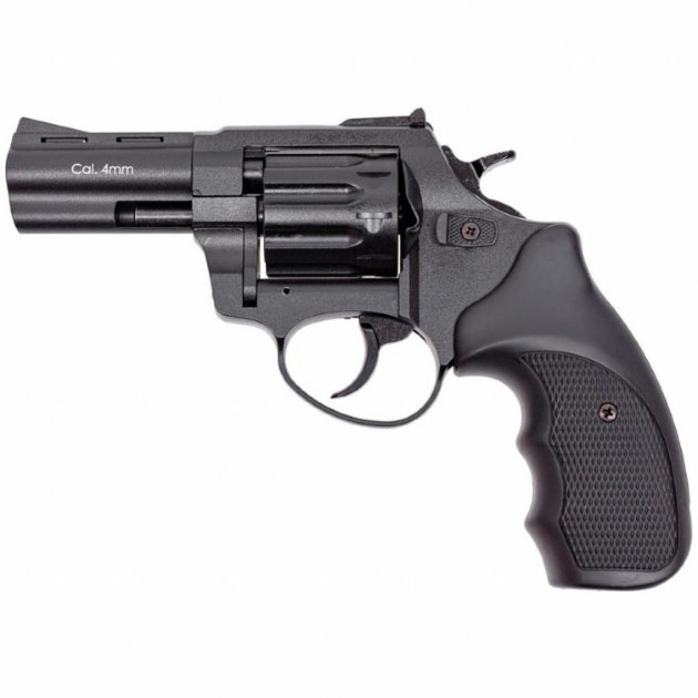 "Револьвер под патрон Флобера STALKER S Black 3"". Барабан - силумин (ZST3B) - изображение 1"