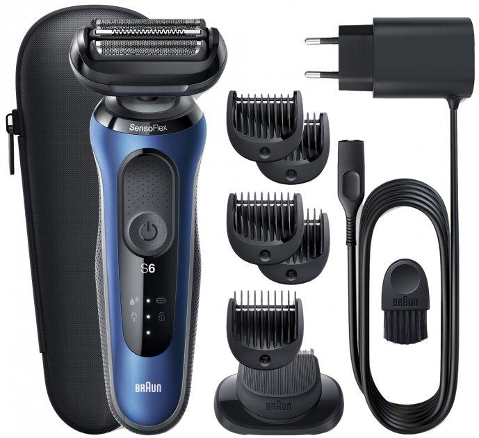 Електробритва-тример BRAUN Series 6 60-B1500s BLUE/BLACK - зображення 1
