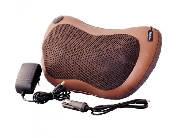 Масажна подушка в автомобіль Massage Pillow спини і шиї з інфрачервоним підігрівом, підголовник масажер - зображення 1