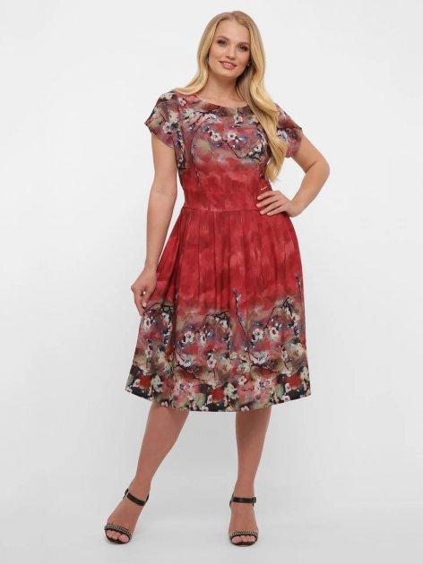 Платье VLAVI Лорен 1189239 54 Акварель Бордо (11892394) - изображение 1
