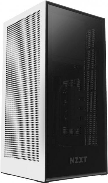 Корпус NZXT H1 Mini-ITX Case with 650 W Power Supply & 140 мм AIO Liquid CPU Cooler Matte White (CA-H16WR-W1-EU) - зображення 1