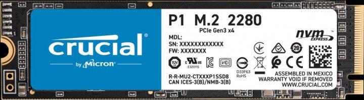 Crucial P1 NVMe 2TB M.2 PCIe 3.0 x4 3D NAND QLC (CT2000P1SSD8) - зображення 1