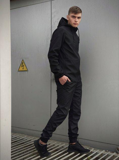 Мужской костюм Intruder Softshell Light демисезонный (Куртка мужская + штаны) черный XXL - изображение 1