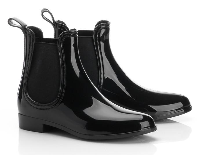 Женские резиновые ботинки, размер 38, цвет Черный, код 90041 - изображение 1
