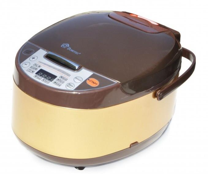 Мультиварка Domotec MS 7723G 5 л, 11 режимов приготовления, коричневая - изображение 1