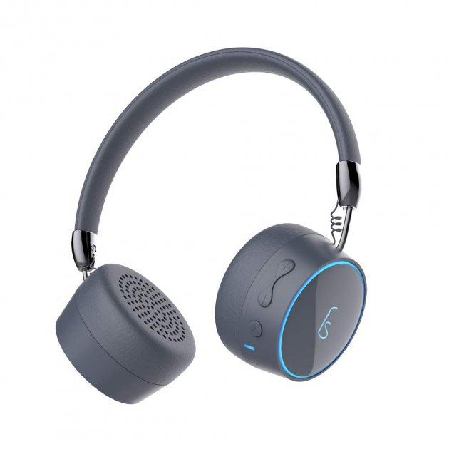 Стерео Наушники Беспроводные Bluetooth Gorsun GS-E95 Pro, microSD Mp3, расширенный басовый диапазон, с подсветкой логотипа Серые - изображение 1