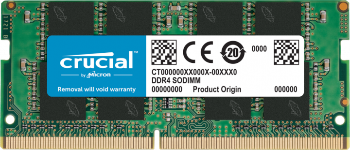 Оперативная память Crucial SODIMM DDR4-2666 8192MB PC4-21300 (CT8G4SFRA266) - изображение 1