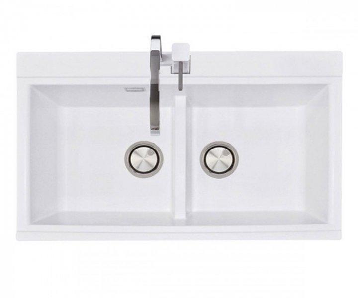 Керамічна мийка Pro100 Moyka SIMILAR білий-01 - зображення 1
