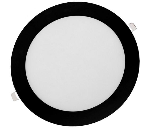 Панель LED врізна BLACK LURD-12N 4000K 12W коло (d:160мм) алюміній - зображення 1
