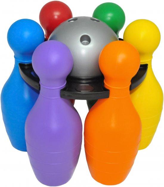 Игрушка развивающая боулинг Tigres Bowling Big 8 элементов (39751 Сірий) - изображение 1