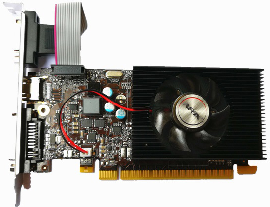 AFOX PCI-Ex GeForce GT 730 4GB GDDR3 (128bit) (954/1333) (VGA, DVI, HDMI) (AF730-4096D3L6) - зображення 1