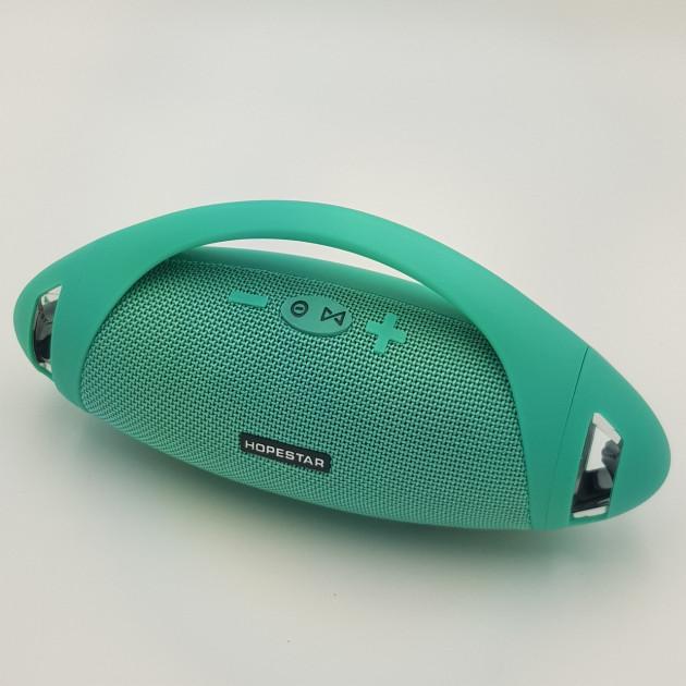 Портативна Bluetooth колонка Hopestar Boombox 24 см Бірюзова (H37) - зображення 1