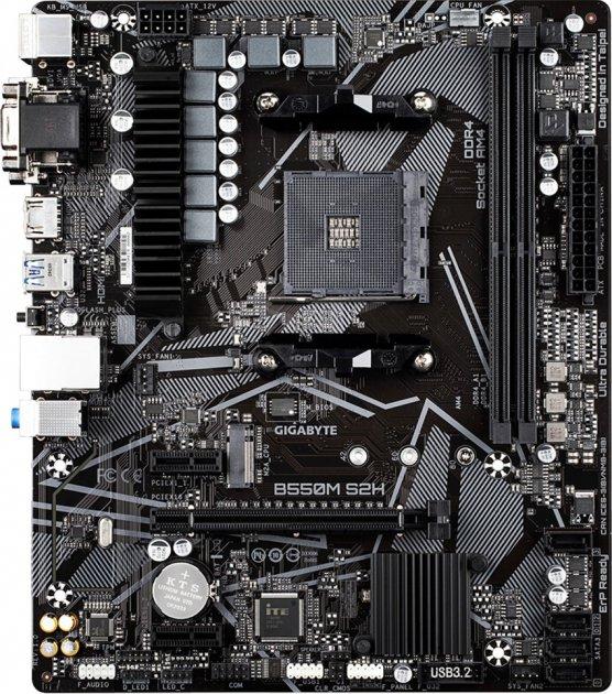 Материнська плата Gigabyte B550M S2H (sAM4, AMD B550, PCI-Ex16) - зображення 1