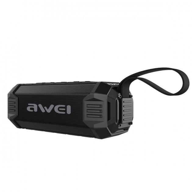 Портативна Bluetooth колонка водонепроникна Awei Y-280 Чорна (zhb0328) - зображення 1