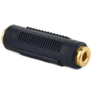 Переходник Cablexpert 3.5 мм - 3.5 мм Черный (A-3.5FF-01) - изображение 1