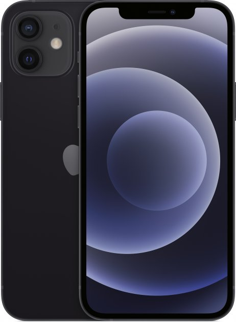 Мобільний телефон Apple iPhone 12 256GB Black Офіційна гарантія - зображення 1