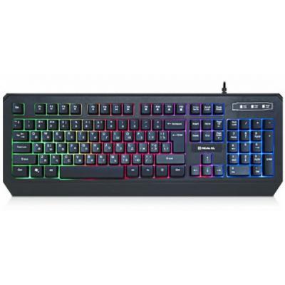 Клавиатура REAL-EL 7001 Comfort Backlit Black - изображение 1