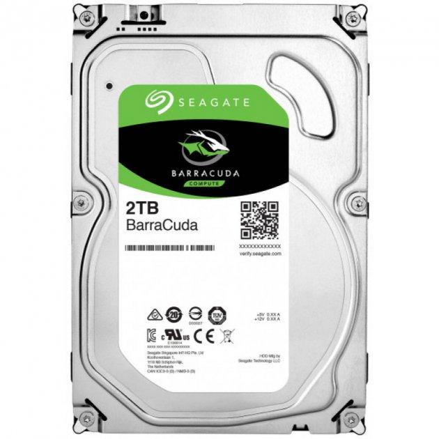 Жесткий диск Seagate BarraCuda HDD 2TB 7200rpm 256MB ST2000DM008 3.5 SATA III - изображение 1