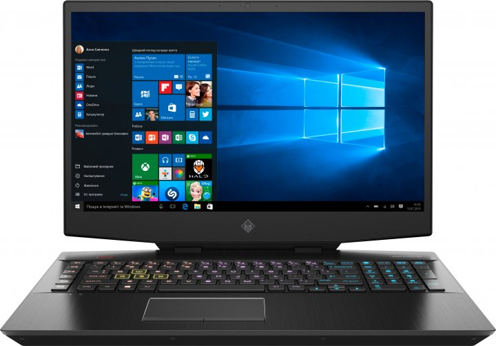 Ноутбук HP Omen 17-cb1013ur (1E6X8EA) Shadow Black - зображення 1