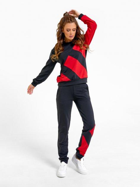 Спортивный костюм ISSA PLUS SA-25 XL Черный с красным (issa2000471148414) - изображение 1
