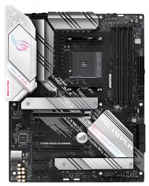 Материнська плата Asus ROG Strix B550-A Gaming (sAM4, AMD B550, PCI-Ex16) - зображення 1