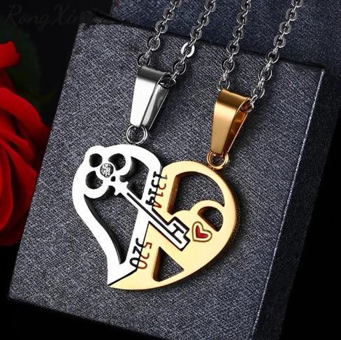 """Для влюбленных кулоны парные """"Ключ в сердце"""" Gold - изображение 1"""