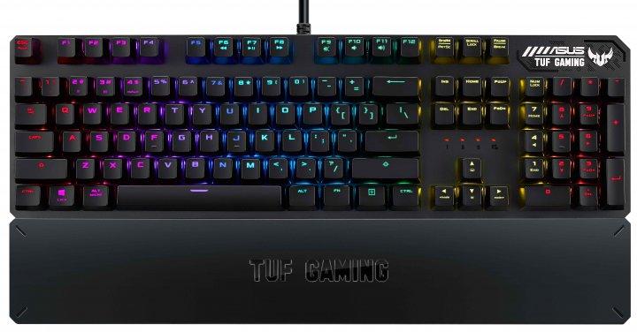 Клавіатура дротова Asus TUF Gaming K3 Kailh Brown Switches USB Black (90MP01Q1-BKRA00) - зображення 1