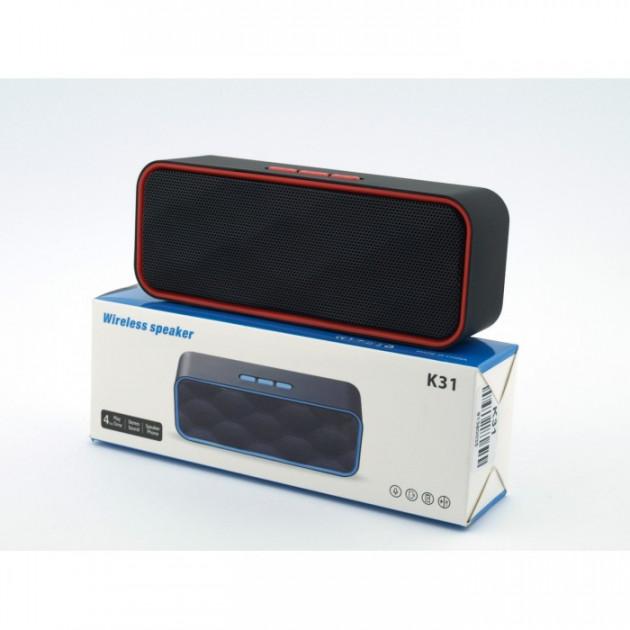 Портативная блютуз колонка Wireless Speaker K31 Oll Dev беспроводная 5 ВТ с флешкой радио и слотом для карты Bluetooth 2.1 зарядка USB (44965 I) - изображение 1