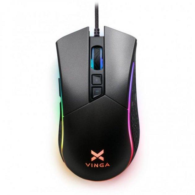 Мишка Vinga MSG-201 Black - зображення 1