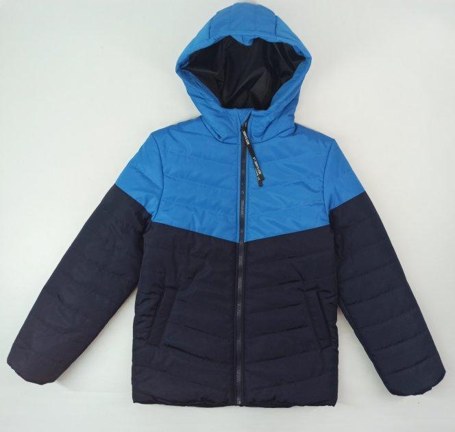 Демисезонная куртка ViTex 55983 146см(р) сине бирюзовый - изображение 1