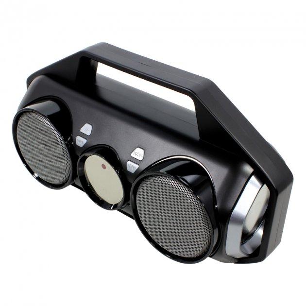 Бездротова портативна колонка Lesko YZS-M11 Grey Bluetooth 4.2 TF/USB/AUX/FM - зображення 1