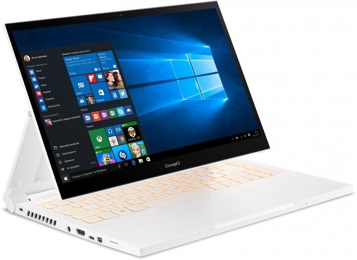 Ноутбук Acer ConceptD 3 Ezel CC314-72G-59ME (NX.C5HEU.004) White - зображення 1