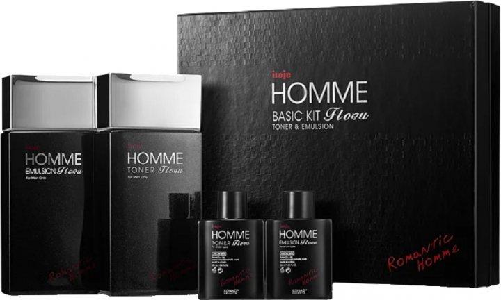 Набор косметики для мужчин Konad Iloje Flobu Homme Basic Kit 2 Set Тонер + Эмульсия 140 + 30 + 140 + 30 мл (8809109832558) - изображение 1