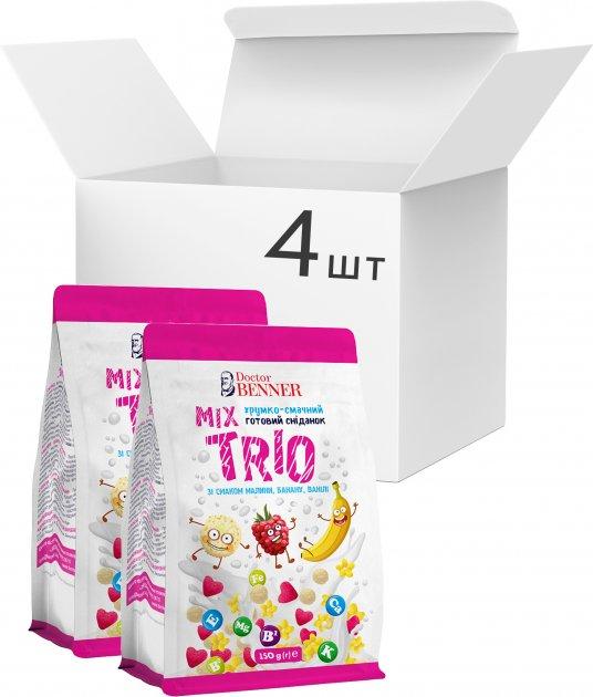 Упаковка готовых завтраков Doctor Benner Трио микс 150 г х 4 шт (4820132581248) - изображение 1