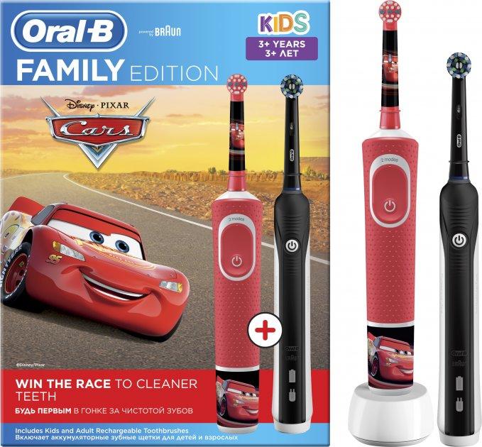 Набір електричних зубних щіток ORAL-B Braun Pro 700 & Kids Cars Family Edition (4210201320036) - зображення 1