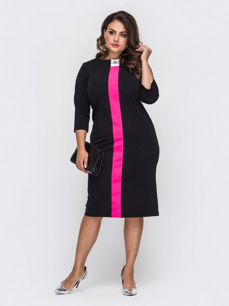 Платье Dressa 50702 52 Черное (2000405633665_D) - изображение 1