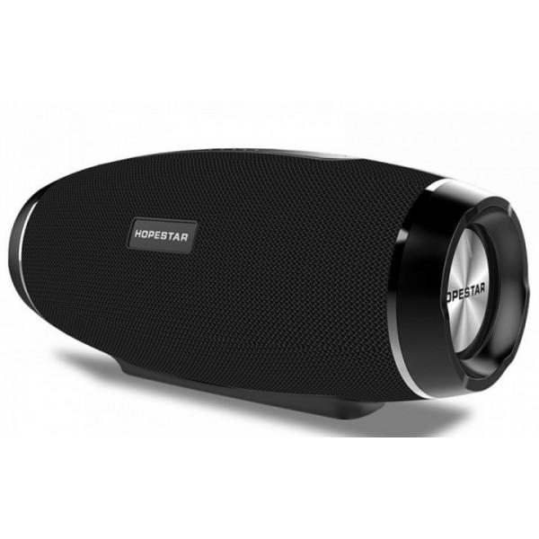 Мощная портативная акустическая стерео колонка (акустическая система) Hopestar H27 Bluetooth USB FM чёрная - изображение 1