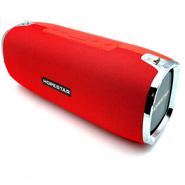 Мощная портативная акустическая 2.1 беспроводная Bluetooth Блютуз колонка с сабвуфером Hopestar A6 Red - изображение 1