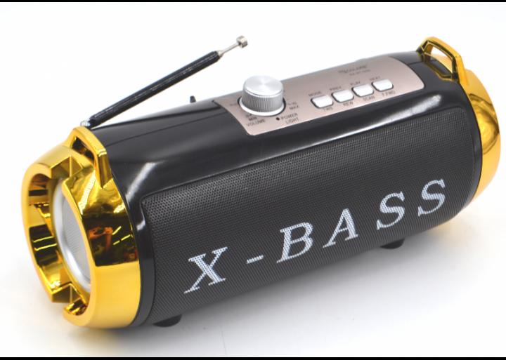 Портативная аккумуляторная Bluetooth колонка Golon RX BT180S с фонарем, солнечной панелью Черно-золотой (11599) - изображение 1