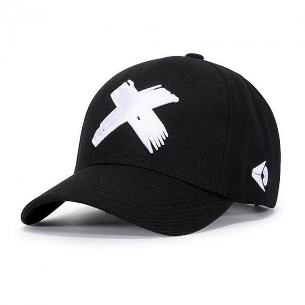 Кепка Чорна бейсболка (Хрестик Білий), Унісекс - зображення 1