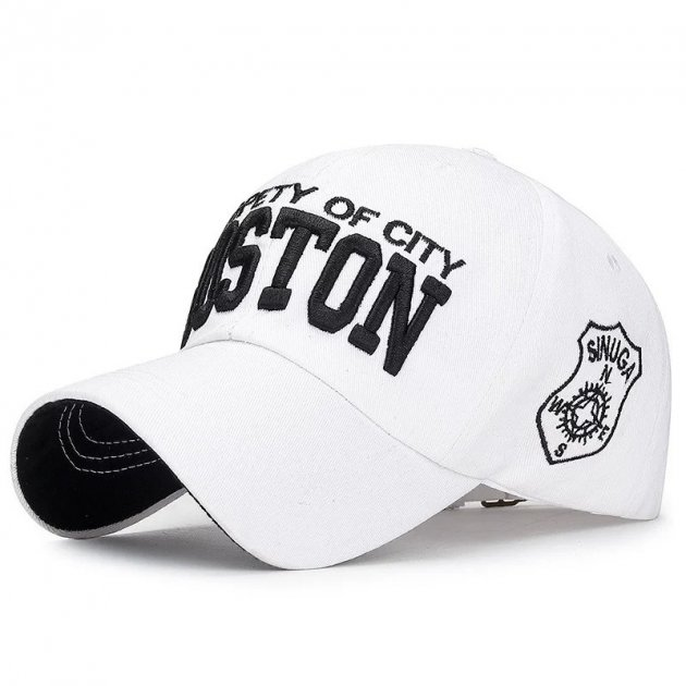 Кепка бейсболка Boston Белая, Унисекс - изображение 1