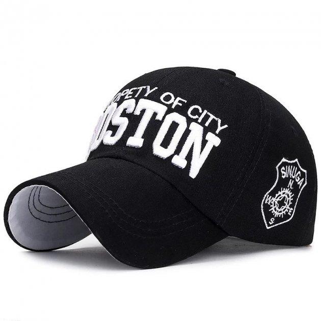 Кепка бейсболка Boston Чорна, Унісекс - зображення 1