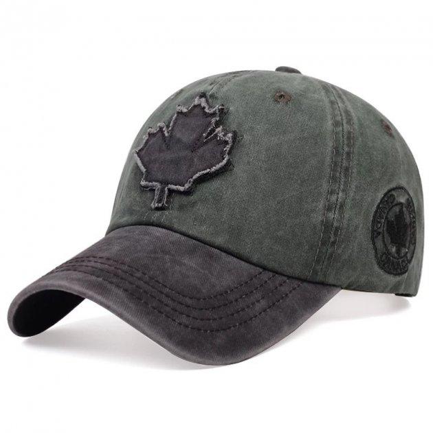 Кепка бейсболка Canada (кленовий лист) Зелена, Унісекс - зображення 1
