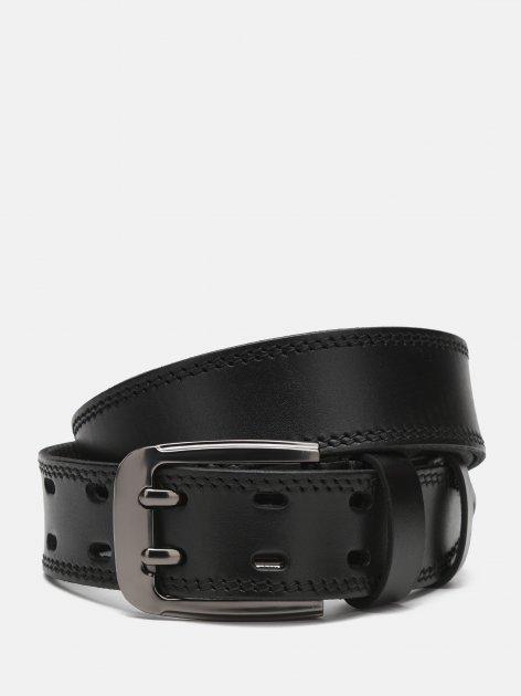 Мужской кожаный ремень Laras Cvgnn27-125 125 см Черный (ROZ6400018318) - изображение 1