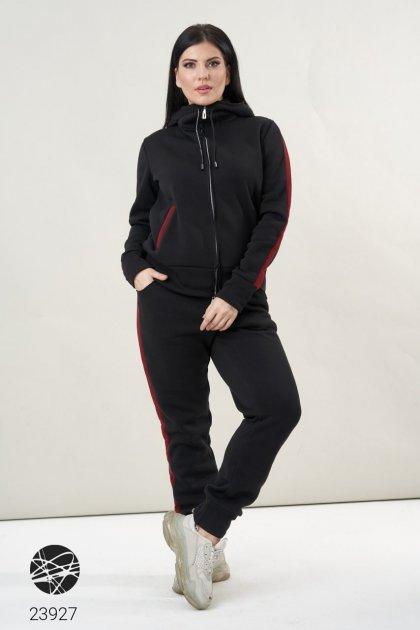 Теплый спортивный костюм с контрастными вставками (23927_54-56) - изображение 1
