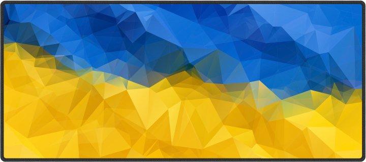 Ігрова поверхня Protech Ukrainian Flag 900 x 400 мм (PR-1619) - зображення 1