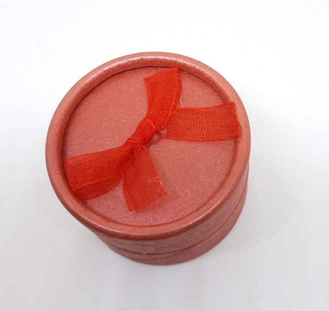 Коробочка для прикрас під кільце і сережки Червоний 10180 (2к) - зображення 1