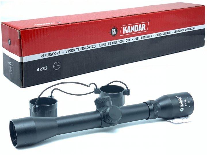 Оптичний приціл Kandar 4х32 Mil-Dot Польща - зображення 1