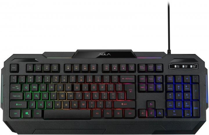 Клавіатура дротова Aula Terminus USB EN/RU (6948391234519) - зображення 1